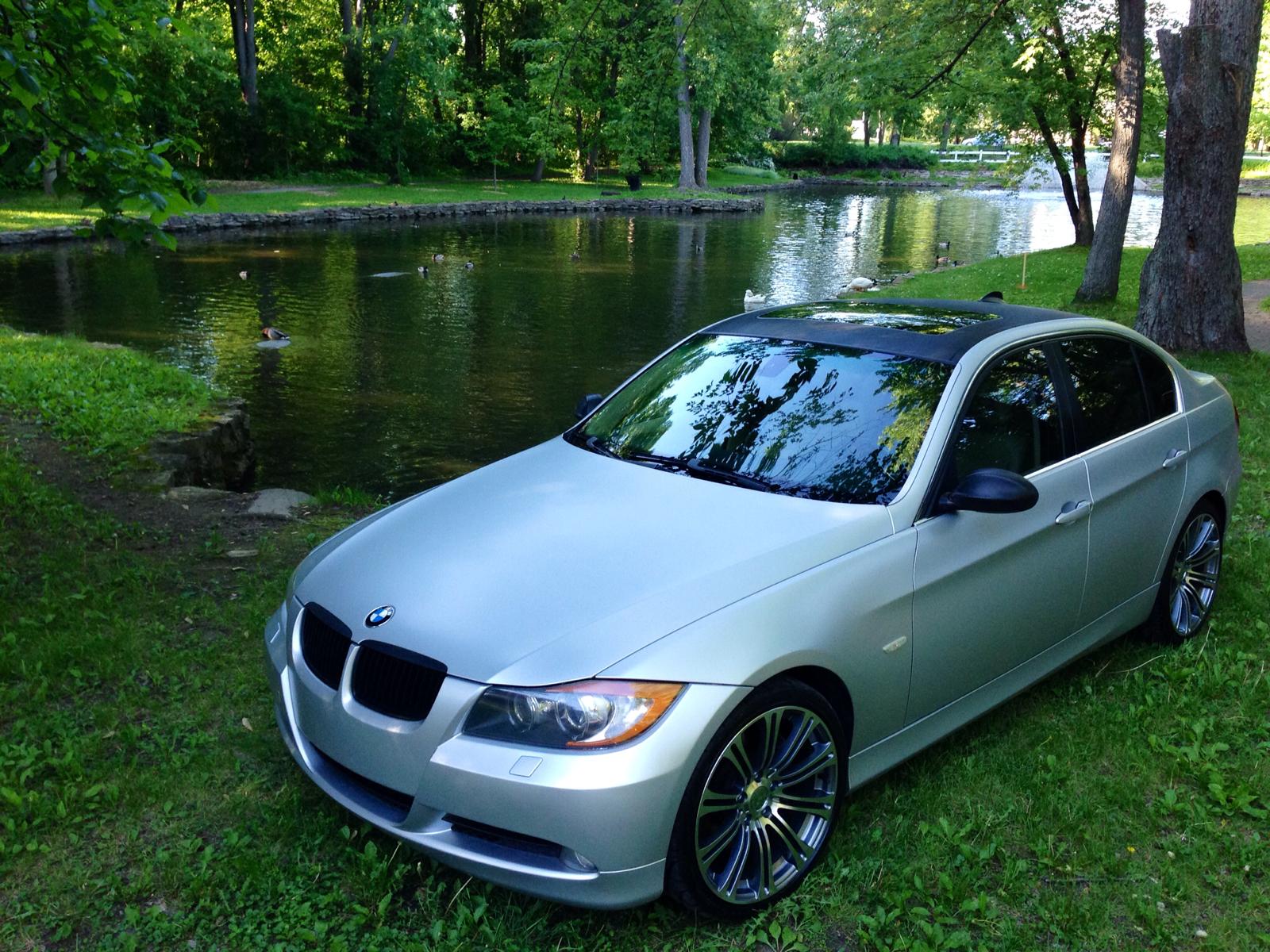 BMW 335xi Satin White Aluminium Wrap