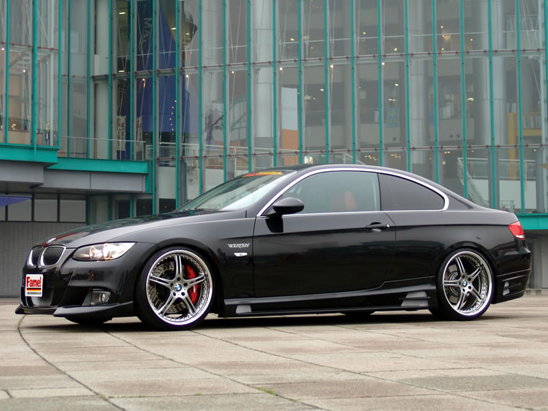 Pic Request: Black 335 coupe with Rieger Body Kit