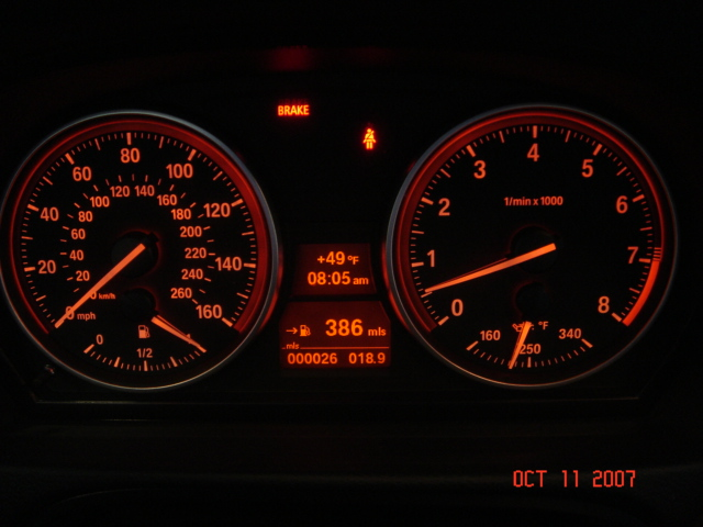 Picture Request E92 Dash At Night