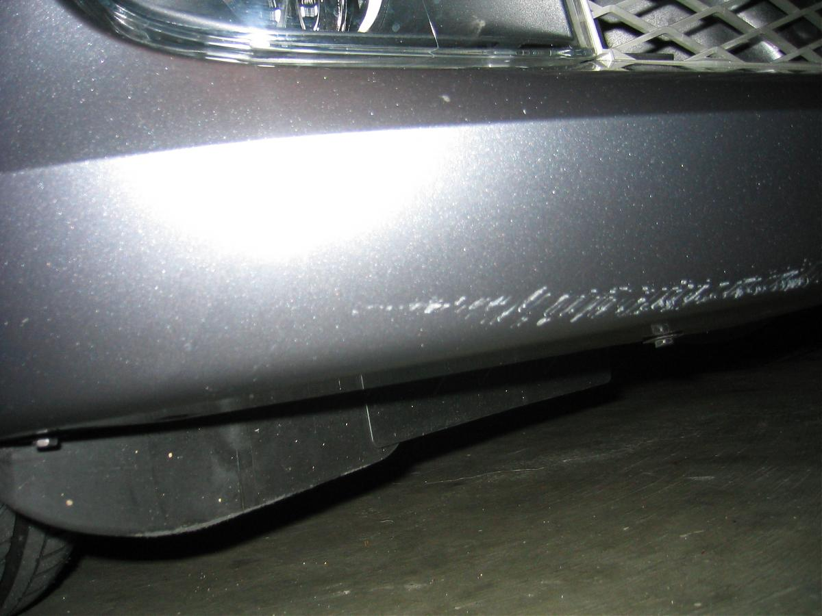 Scratch On Bumper Of Leased Car