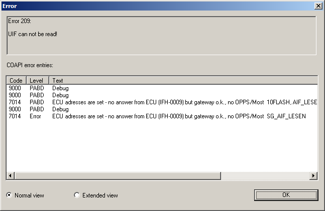 DSC update problem on