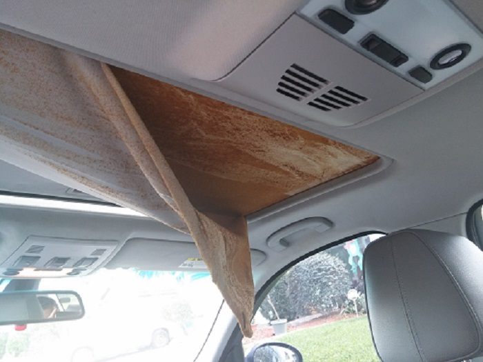 how to fix the car roof fabric