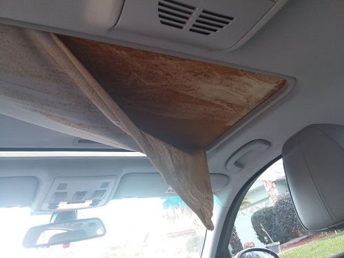 Sunroof Moonroof Cover Fabric Fell Apart PELASE HELP