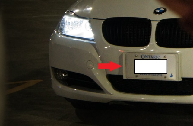 attached images - White License Plate Frame