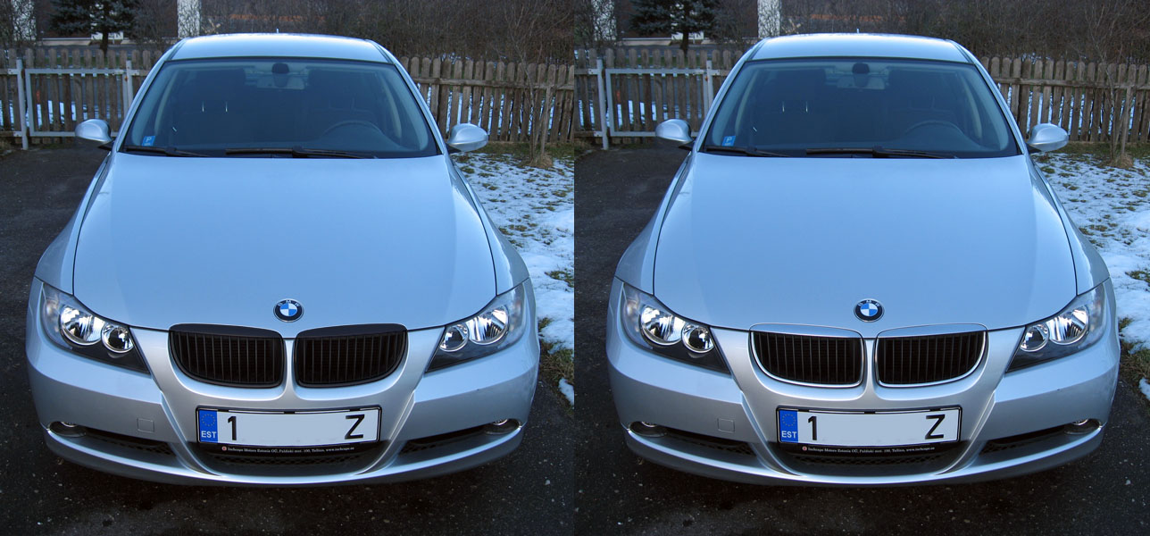 Pic Request E90 Silver With Black Grill M5 Reps