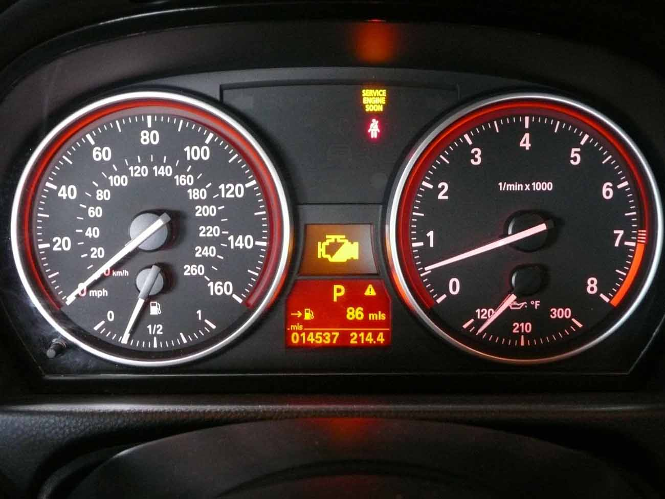 Bmw 328i Dashboard Symbol Circle With An Exclamation