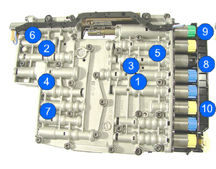 DIY - automatic transmission ZF 6HP19-21 solenoids