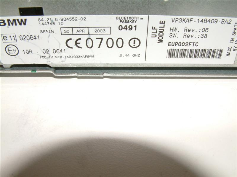 2005 E46 320cd Bluetooth Pairing Pin Code