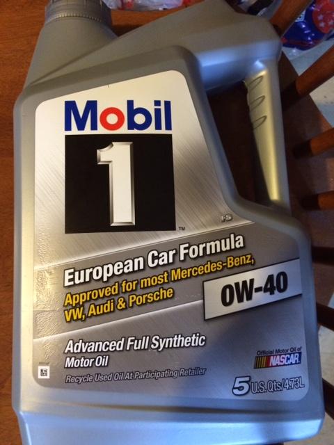mobil 1 0w 40 european car formula not ll 01 walmart. Black Bedroom Furniture Sets. Home Design Ideas