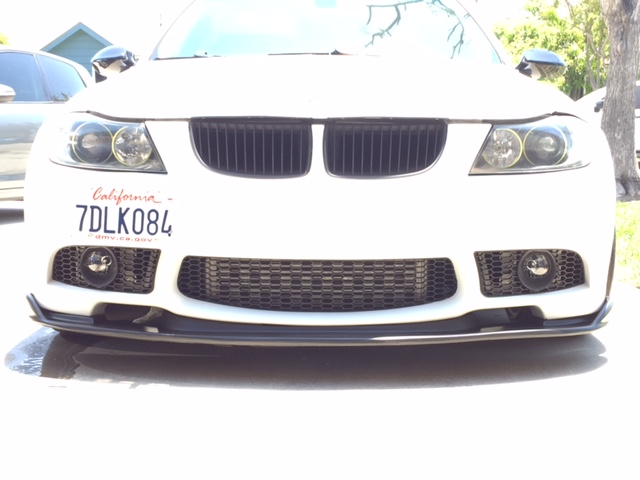 Carbon Fiber Front Bumper Splitter Lip For BMW E90 E91 3 SERIES REGULAR 06-08 07