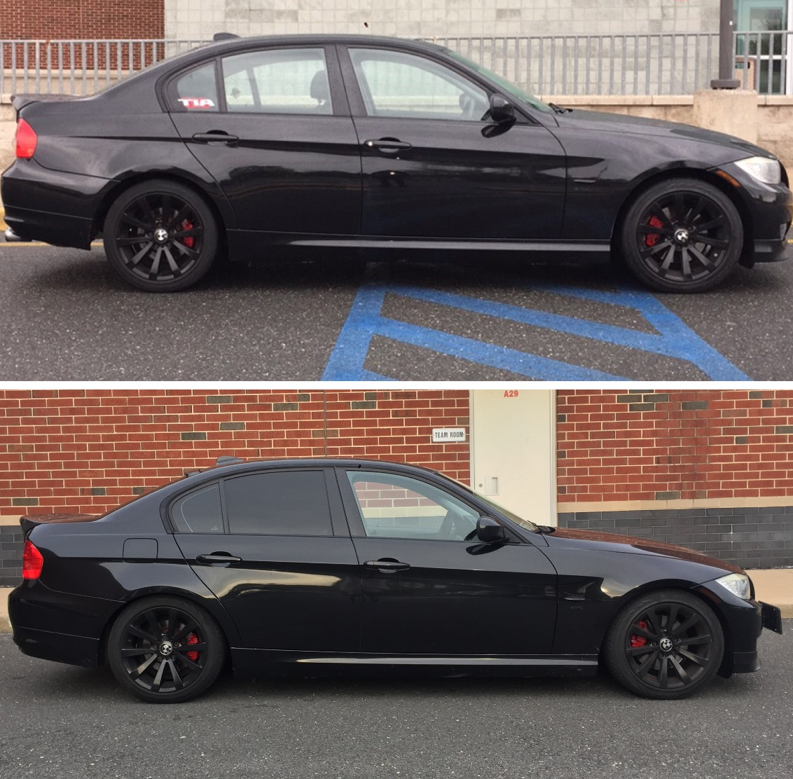 Bmw E90 Before And After H R Sport Lowering Springs Bmw 3
