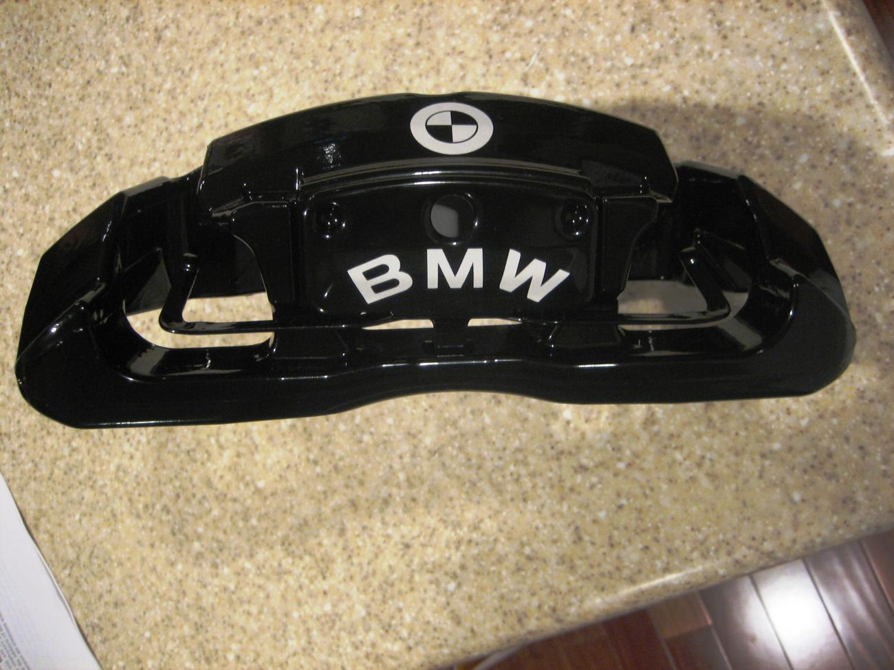 Powdercoated OEM Calipers To Decal Or Not To Decal - Bmw brake caliper decals