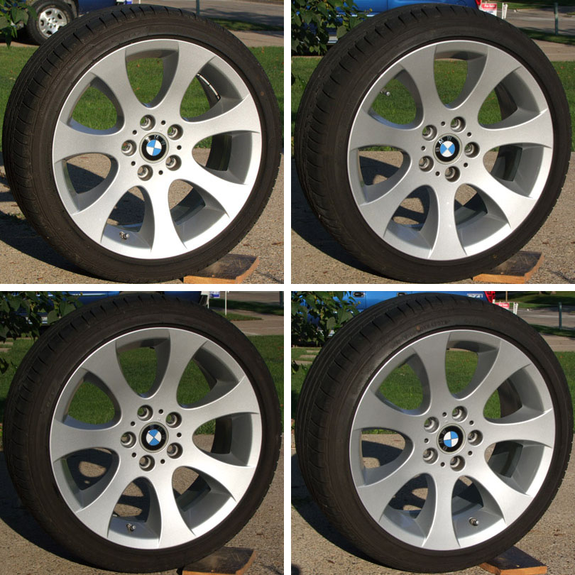 "OEM 162 Set Of 4 Tires Wheels TPSM Cups 18"" 335i"