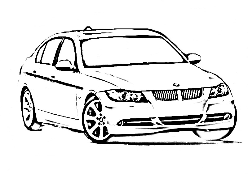 need outline of an e90 for new 06 e90post tshirt