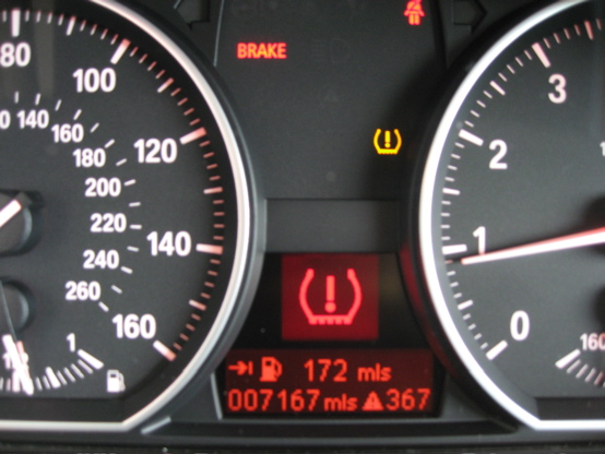 Tpms sensor warning light