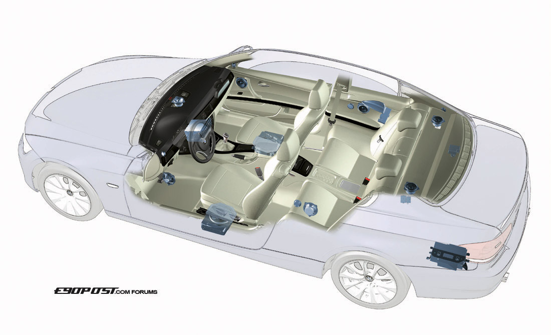 e92 coupe speakers amp subwoofer location diagram. Black Bedroom Furniture Sets. Home Design Ideas