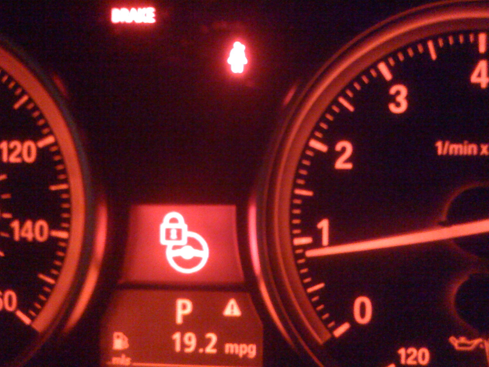 Steering Wheel Lock Warning Lite Question - Bmw e90 warning signs