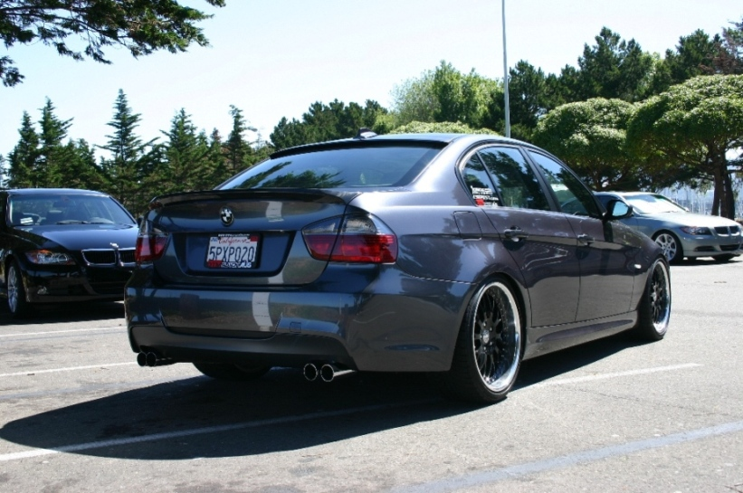 Bmw E90 With Rear Roof Spoiler And Wing Spoiler