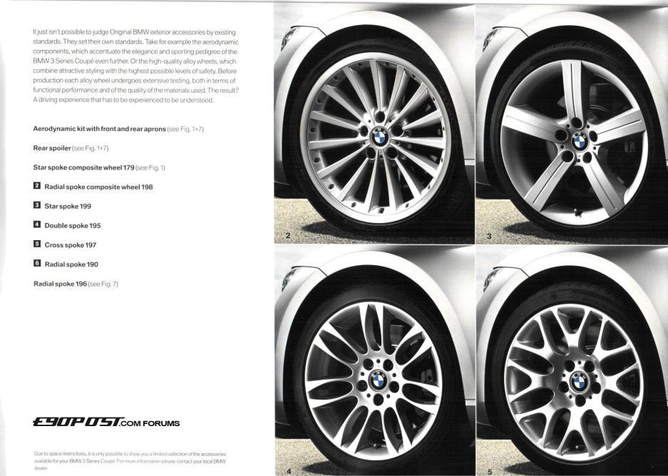 E92 Oem Wheels Selection