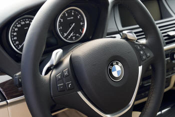 Bmw Genuine Sports Leather Steering Wheel With Trim For Paddle Gear Shifters