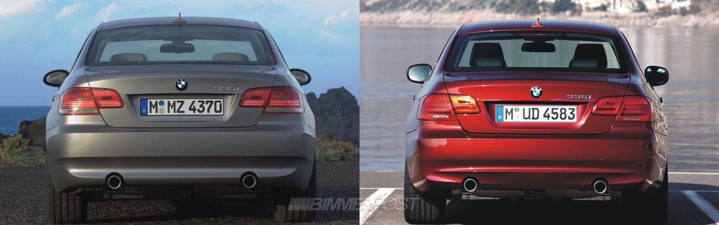E92 Lci Vs E92 Picture Comparison