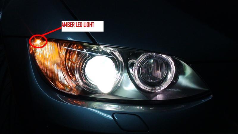 Euro Spec E92 Amber Led In Headlight