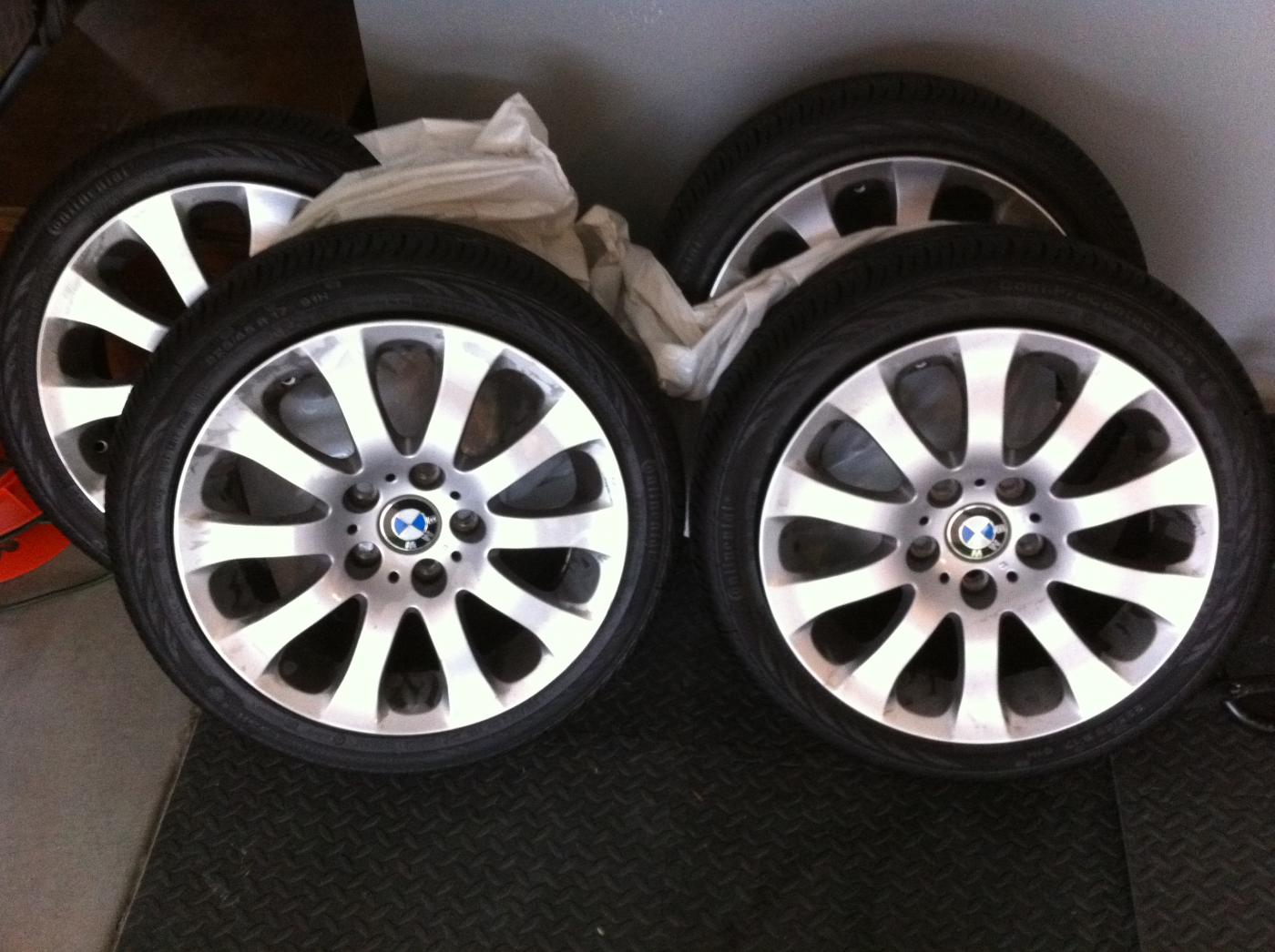 Bmw 17 Quot Oem Wheels 4 Rims Tires Run Flat 225 45 R17