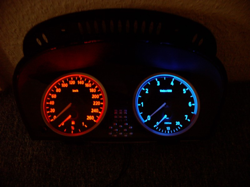 Blue Instrument Panel Converted From Stock Amber Color