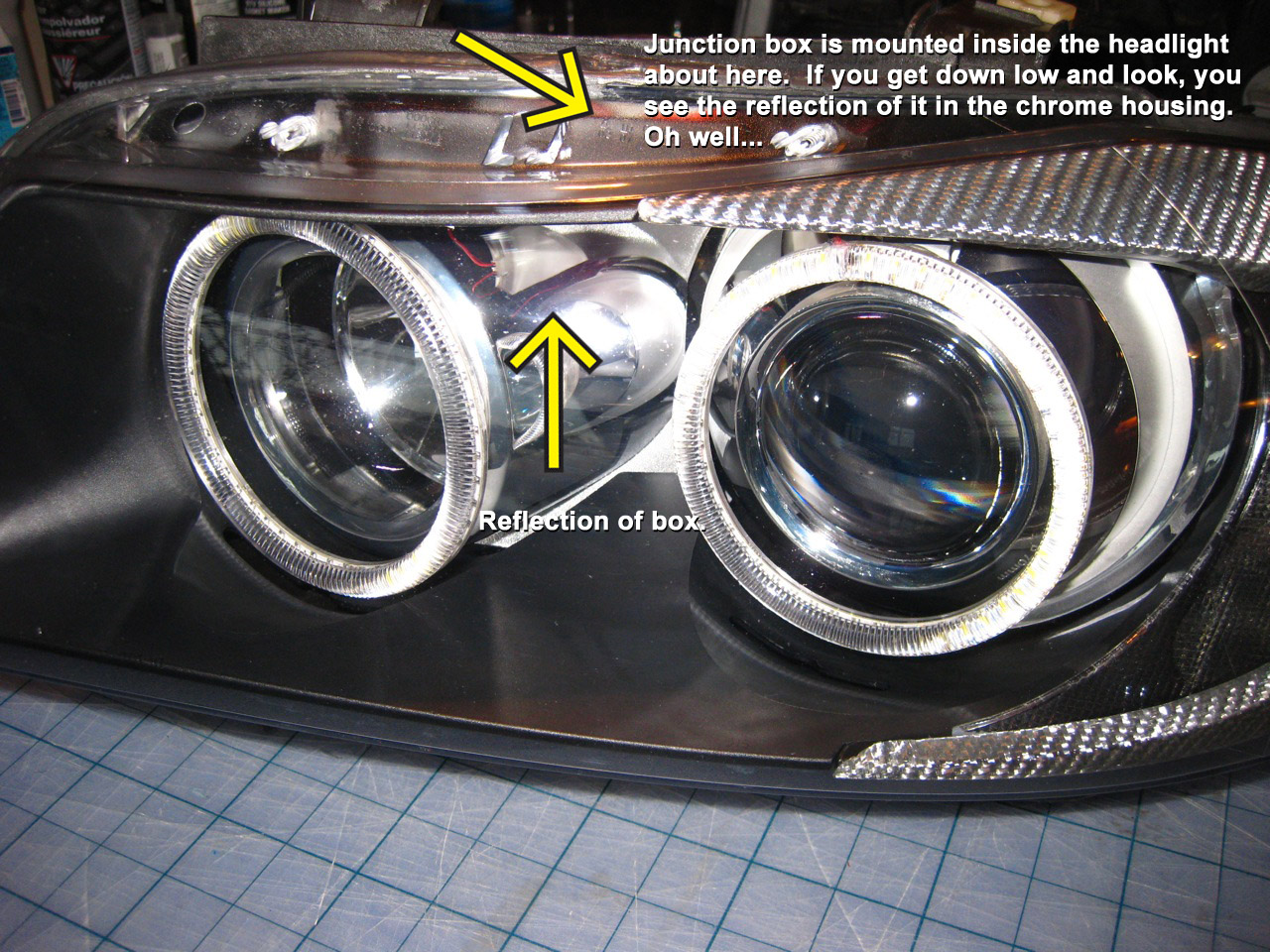 Broken angel eye ring **UPDATED** with DIY opening headlight