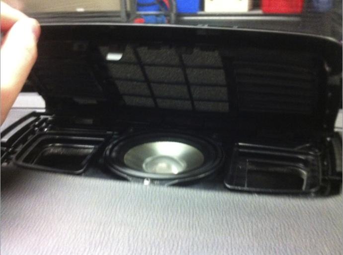 bmw logic 7 center dash stereo speaker vent cover and. Black Bedroom Furniture Sets. Home Design Ideas