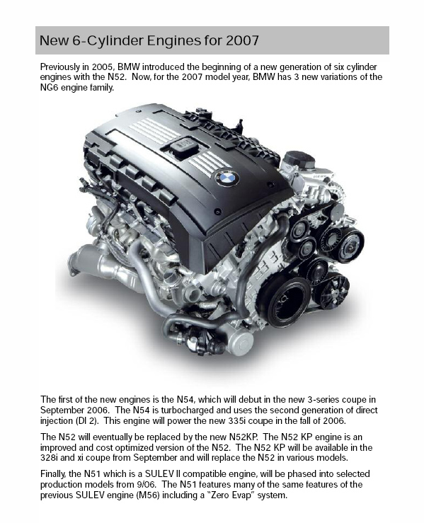2007 Engine Tech How The N54 Works Must Read