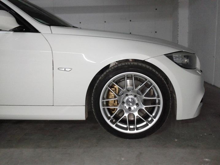 Painted My Calipers Gold Alpine White 335i M Sport Lci