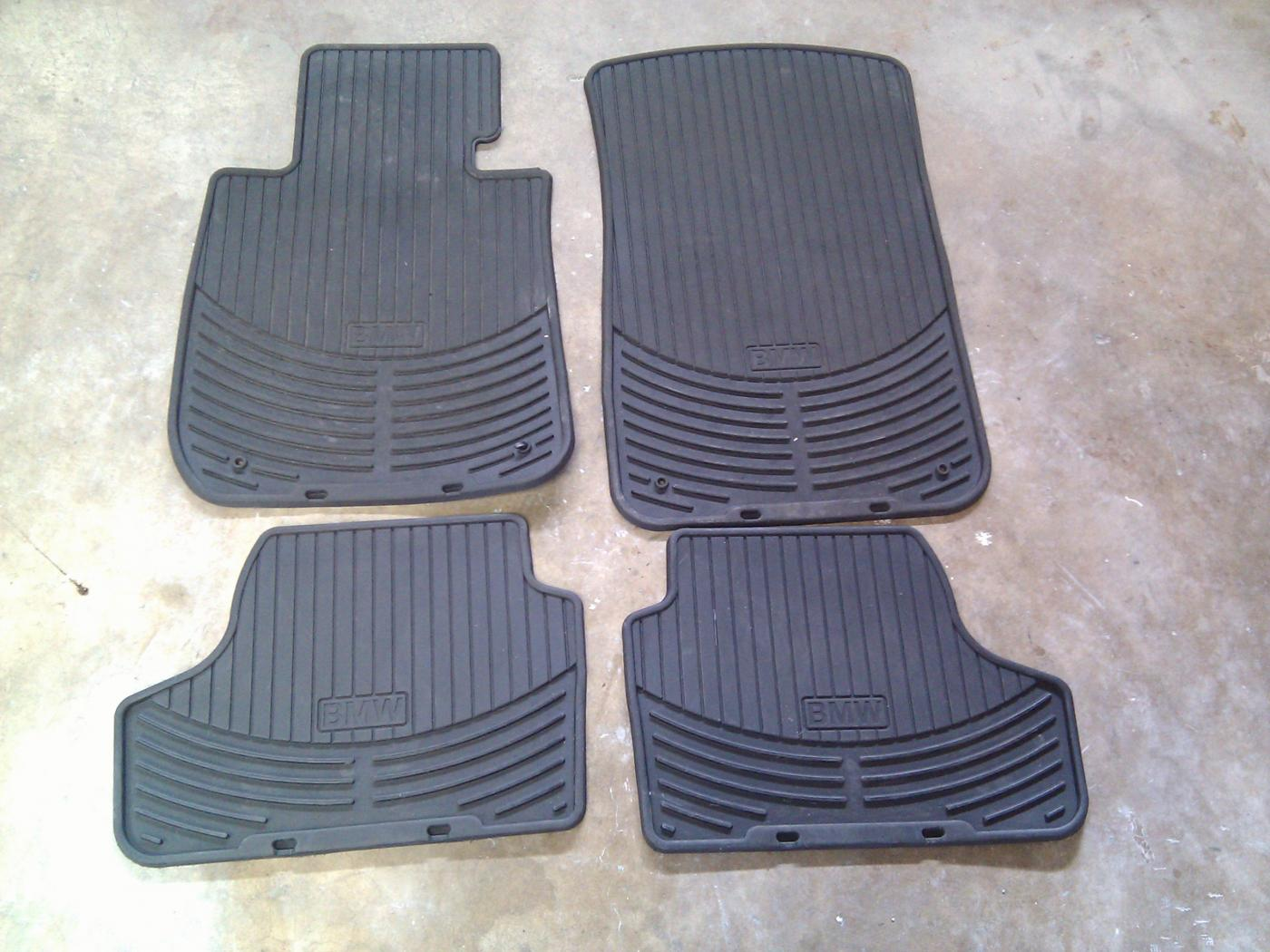 Rubber floor mats bmw 3 series - Attached Images