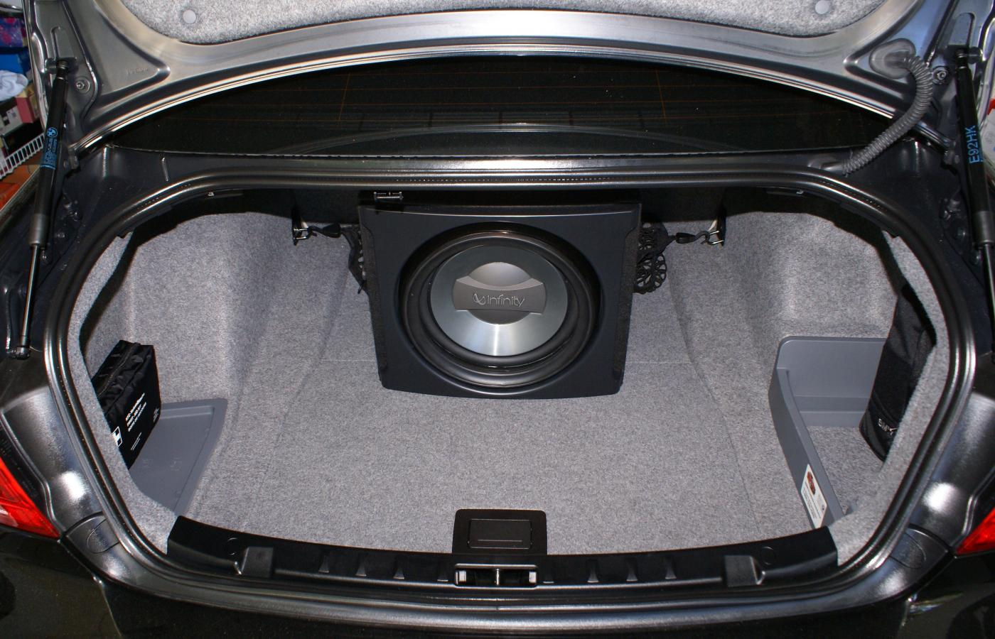 Fs 12 Infinity Sub In A Polk Audio Ported Enclosure Pioneer Amp Car Subwoofer Wiring Kits Attached Images