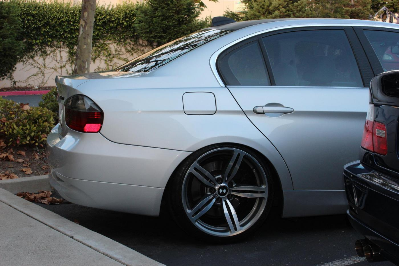 pre-lci e90 lowered on...