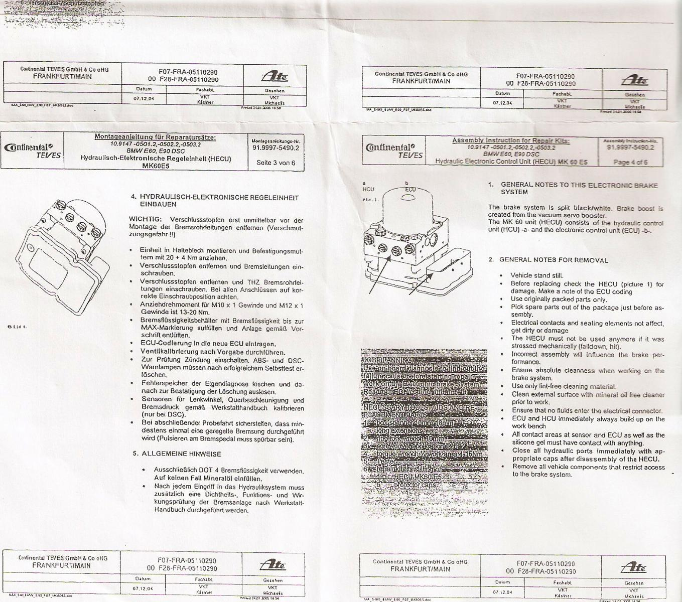 Diy Replacing Dsc Hydro Unit E90 E92 And Bmw Abs Control Module Wiring Diagram Attached Images