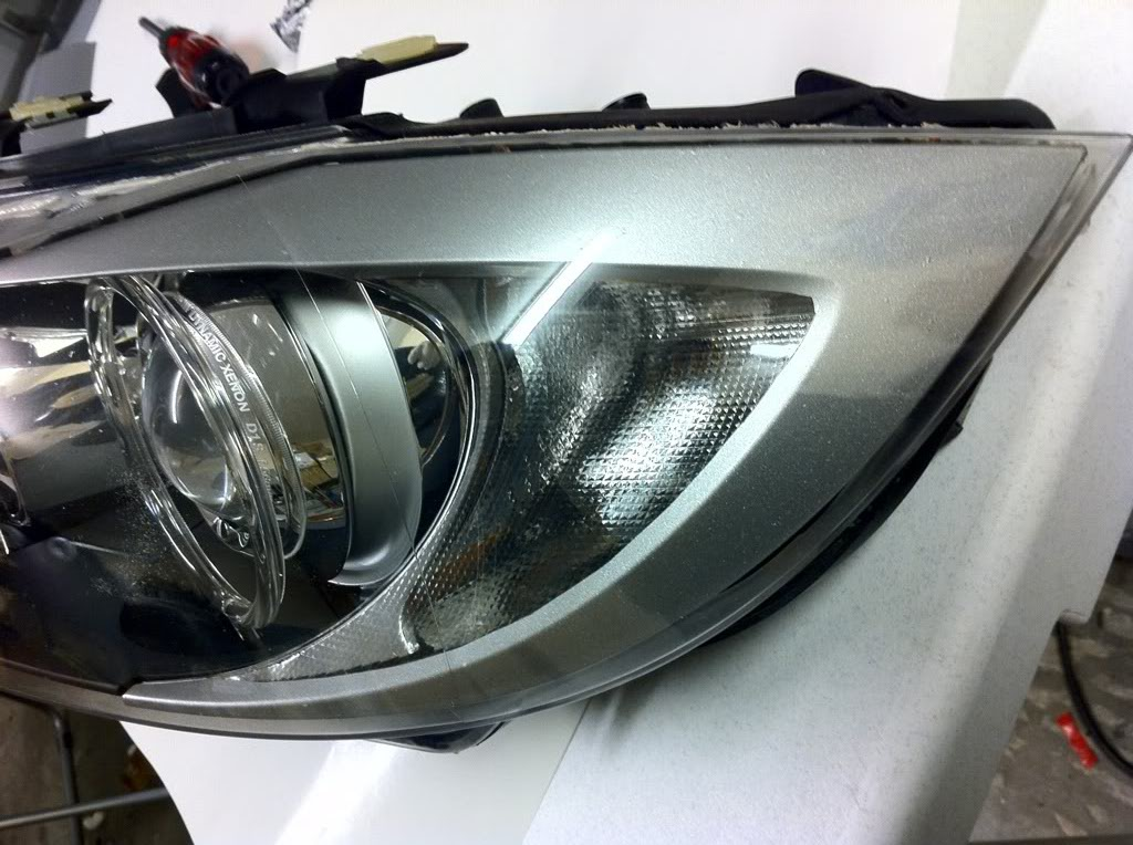 Silver Pre Lci Headlight Reflector
