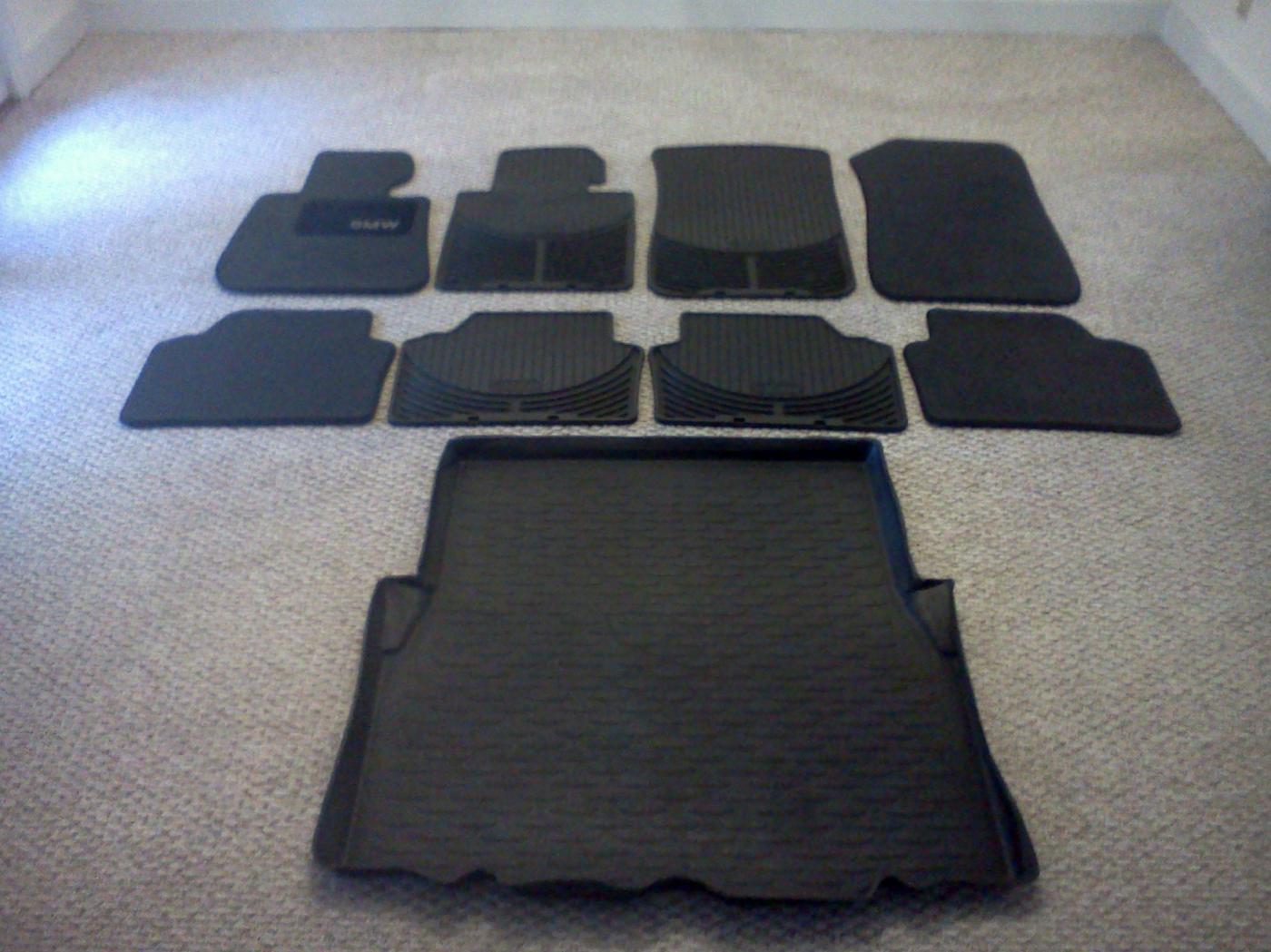 E90 E91 One Full Set Oem Rubber Carpet Floor Mats Trunk Liner