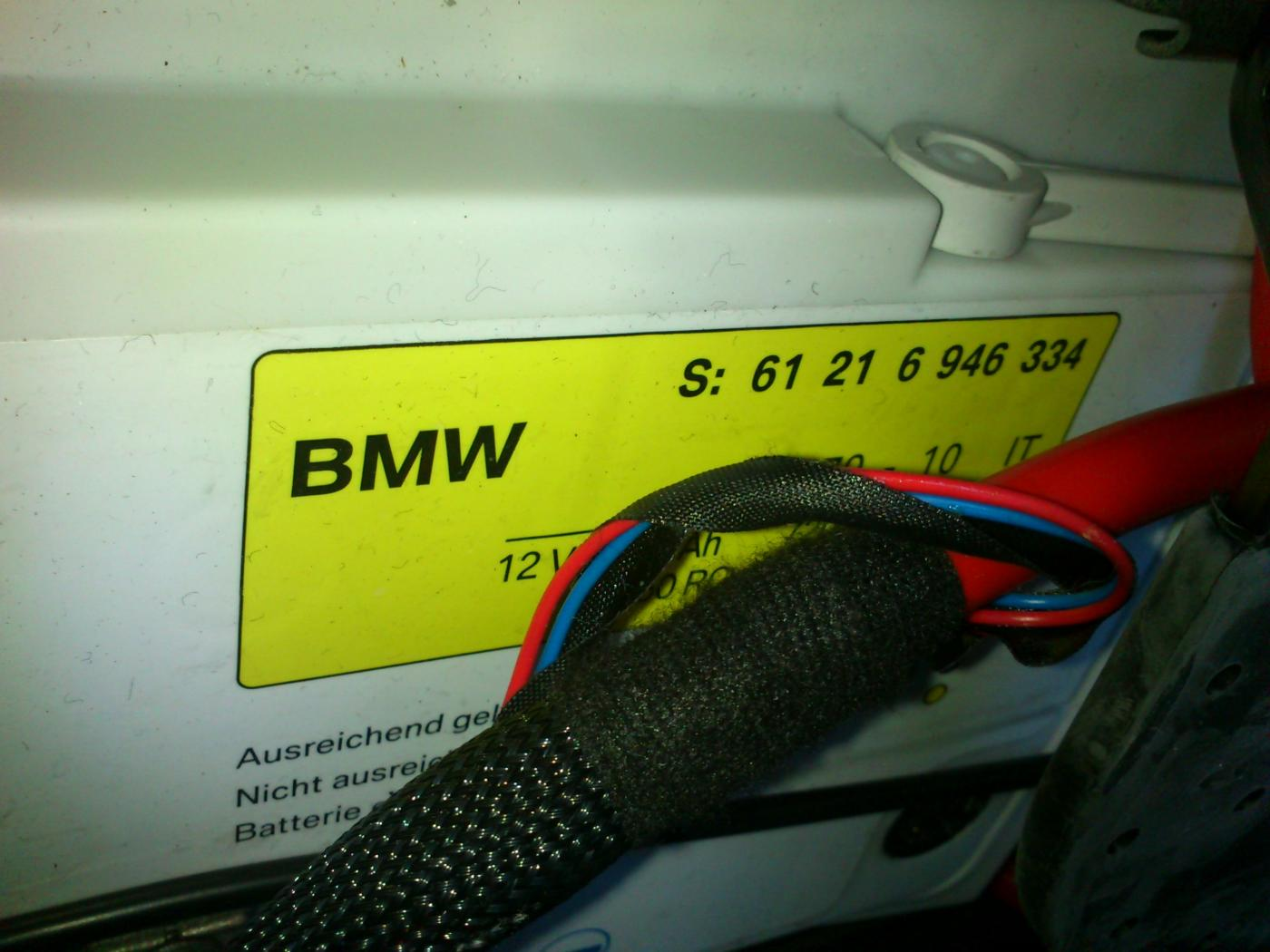 Dead Battery Questions About Registration And Replacement Bmw 325i Attached Images