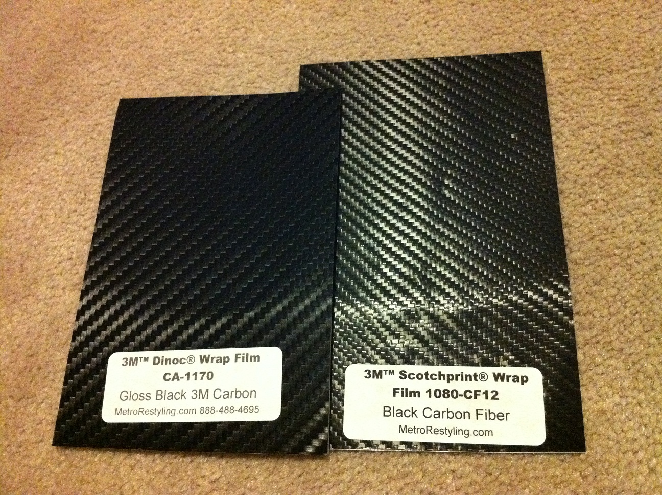 Genuine 3M Scotchprint Carbon Fibre BLACK Vinyl Wrap Film 1080 CF12