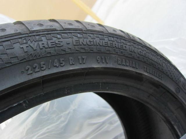 continental sport contact 2 ssr 225 45r17 runflat tires. Black Bedroom Furniture Sets. Home Design Ideas