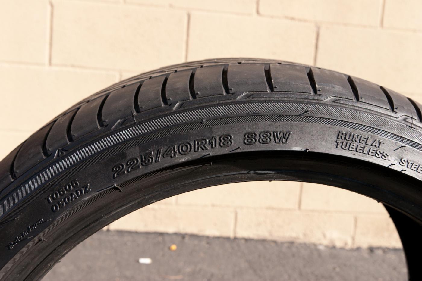 Bridgestone Run Flat Tires >> FS: Bridgestone Potenza RE050A Run-flat 225/40R18 - $150