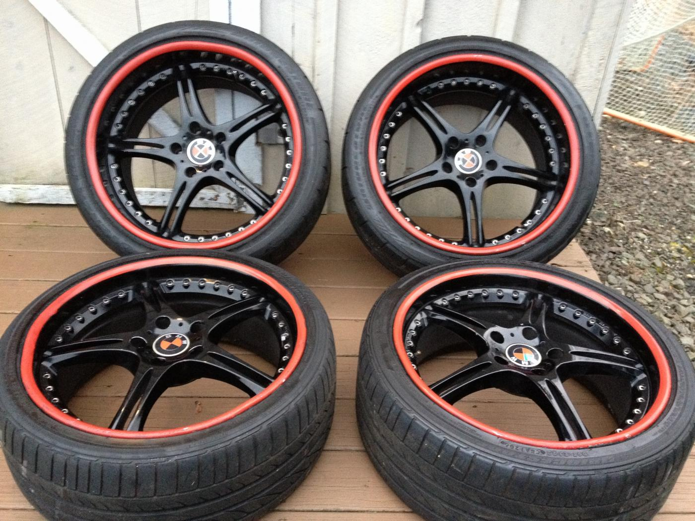 19 Black And Red Rims For Sale