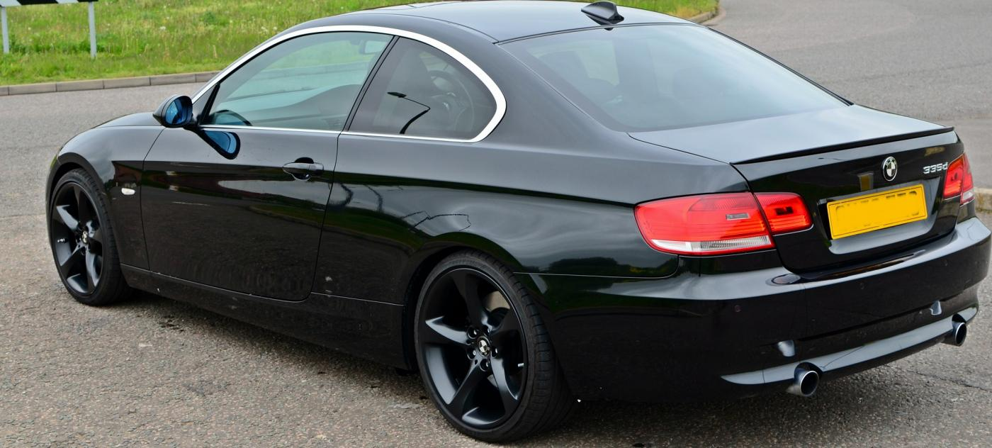 335d pics e92 sapphire black black wheels m3 lip. Black Bedroom Furniture Sets. Home Design Ideas