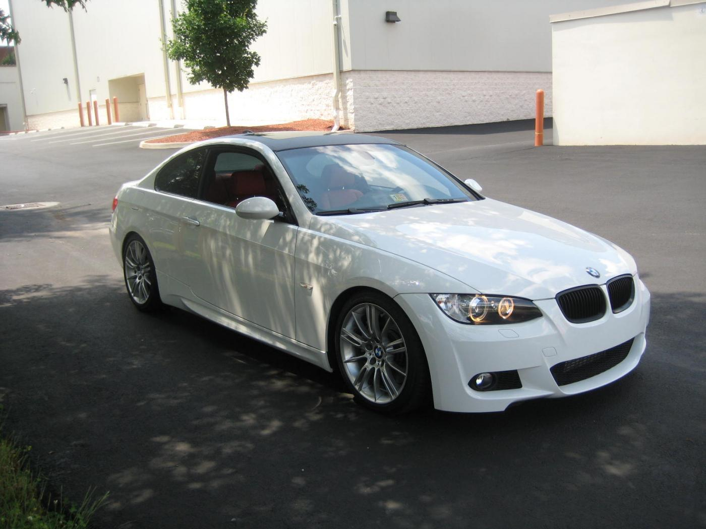 fs: 2009 bmw 335i coupe|m-sport - alpine white/coral red, all