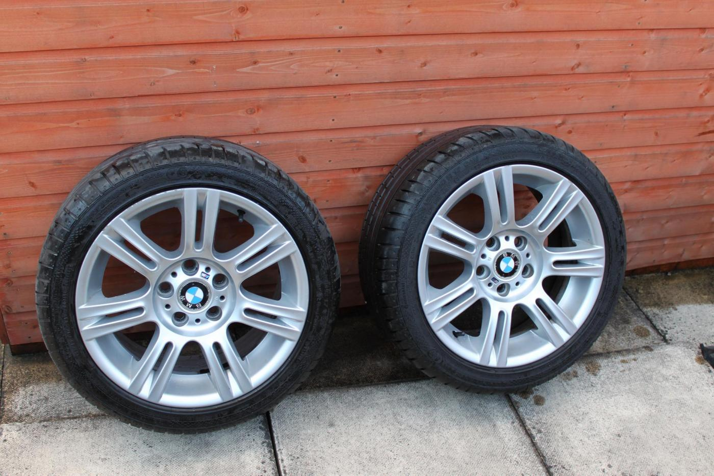 Fs Genuine Bmw 17 Quot M Sport 194m Alloy Wheels With Conti