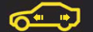 Strange Warning Symbol Outline Of Car With Arrows Inside