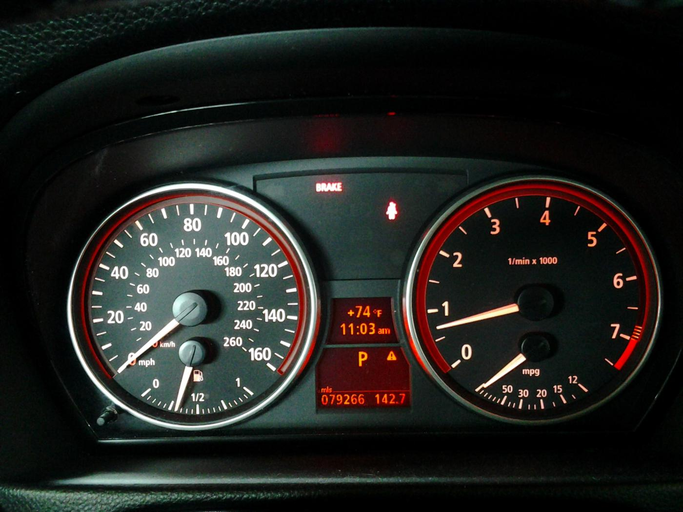 Bmw 1 Series Handbrake Warning Light Reset