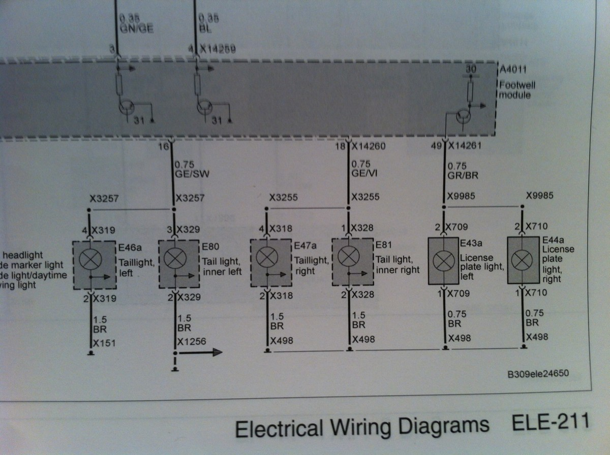 i need a wiring diagram, 2008 e92 tail lights, Wiring diagram