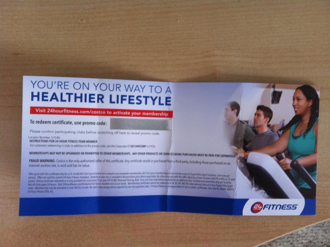Costco deals 24 hour fitness